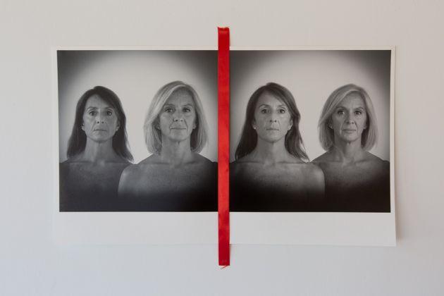 Giovanni De Angelis, Sogno Ideale part 2, 2015, fine art print su carta cotone e nastro rosso in seta, BoCS Art Museum Cosenza
