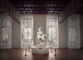 Gruppo scultoreo del Galata suicida e pannelli Follia pratica di Fornasetti, Museo Nazionale Romano Palazzo Altemps, Roma 2017