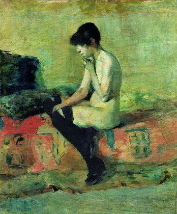 Henri de Toulouse-Lautrec, Etude de nu. Femme assise sur un divan, 1882, olio su tela, Musée Toulouse-Lautrec, Albi