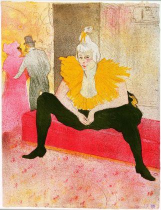 Henri de Toulouse-Lautrec, La clownesse assise, Mademoiselle Cha-U-Kao, 1896, litografia, tavola 1 della serie Elles, Bibliothèque Nationale de France, Parigi