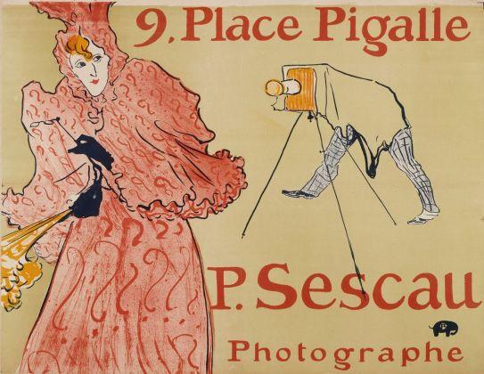 Henri de Toulouse-Lautrec, Le photographe Sescau, 1894, litografia, manifesto, collezione privata