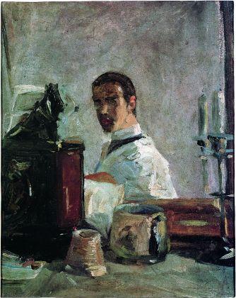 Henri de Toulouse-Lautrec, Portrait de Lautrec devant une glace, 1880, olio su cartone, Musée Toulouse-Lautrec, Albi, France
