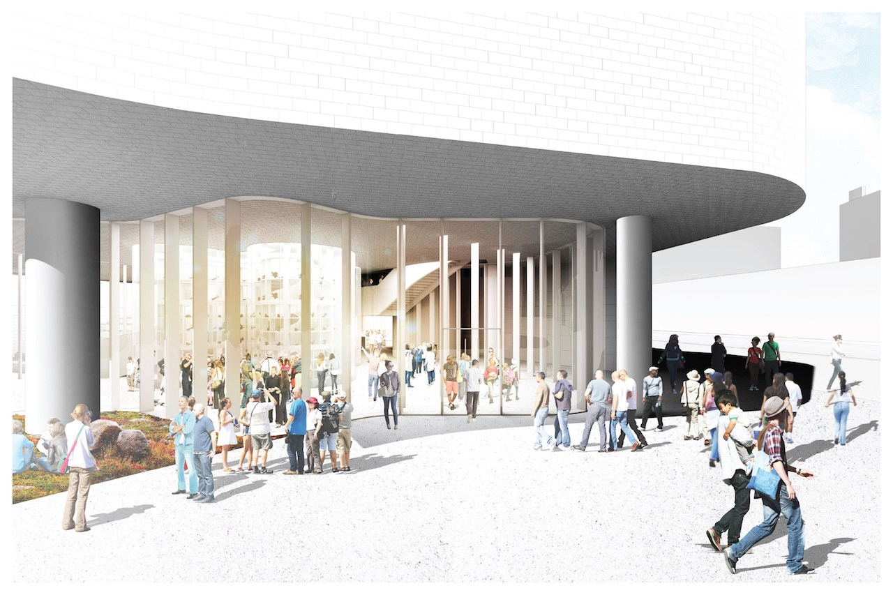 Inuit Art Center, rendering Michael Maltzen Architecture