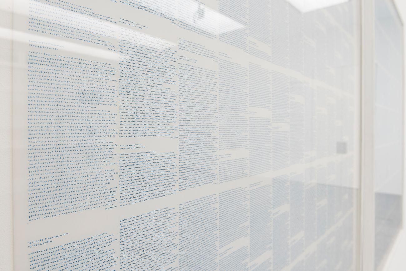 Irma Blank. Exhibition view at Museion, Bolzano 2017. Photo Luca Meneghel