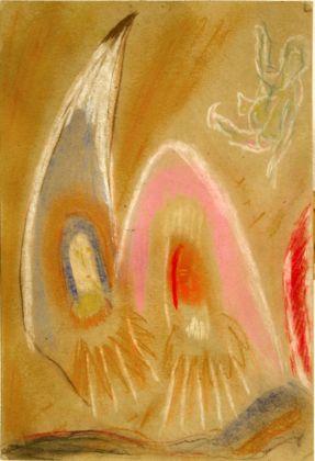 Jack Kerouac, Senza Titolo, N.D., olio su cartone, 29,5x21,5 cm