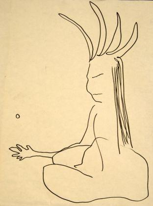 Jack Kerouac, Senza Titolo, N.D., pennarello su carta, 23,5x17,5 cm