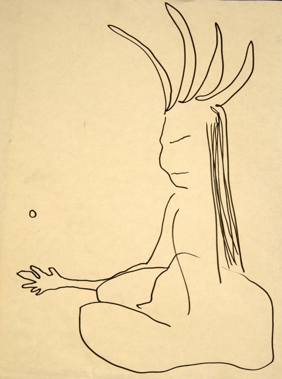 Jack Kerouac, Sacred Heart, N.D., olio su carta. 23x30,5 cm
