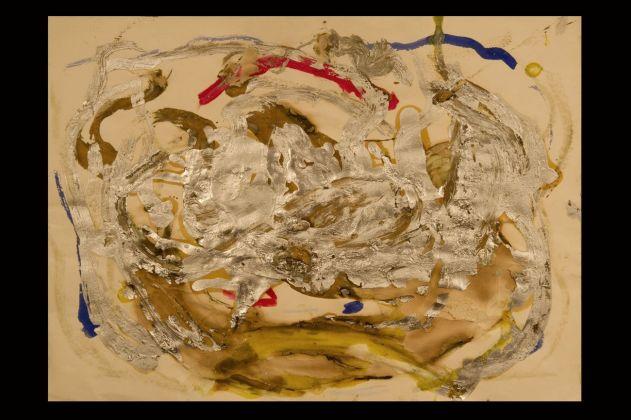 Jack Kerouac, Senza Titolo, N.D., tecnica mista su tela, 22,5x30 cm