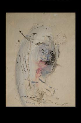 Jack Kerouac, Senza Titolo, N.D., tempera, china e colla su carta, 30,5x23 cm