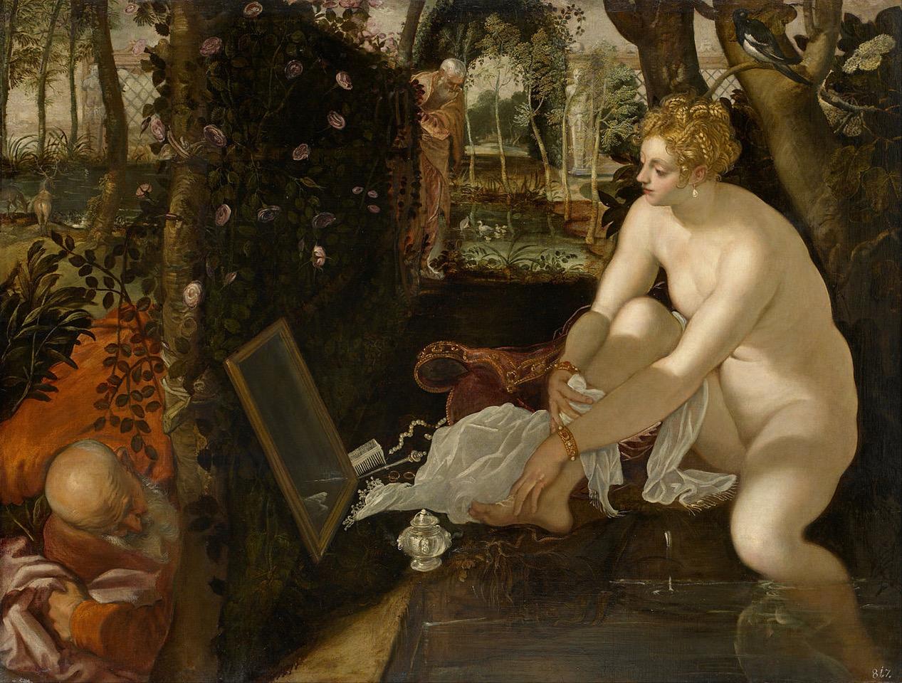 Tintoretto, Susanna e i Vecchioni, KHM Vienna