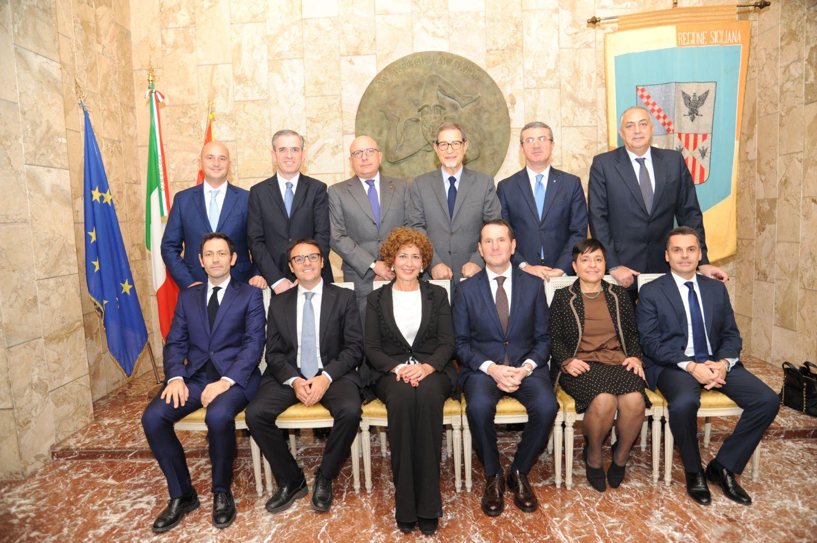 La giunta Musumeci (quasi al completo)