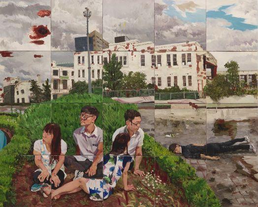 Liu Xiaodong, Time, 2014, olio su tela, 240x300 cm