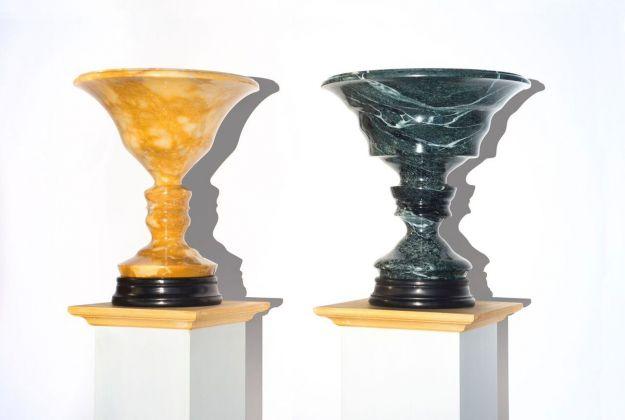 Luca Maria Patella, Vaso fisiognomico di Battista Sforza, 1982-2017, Vaso fisiognomico di Federico da Montefeltro, 1982-2017