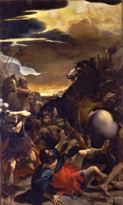 Ludovico Carracci, Conversione di Saulo (part.), 1587 88, olio su tela. Bologna, Pinacoteca Nazionale