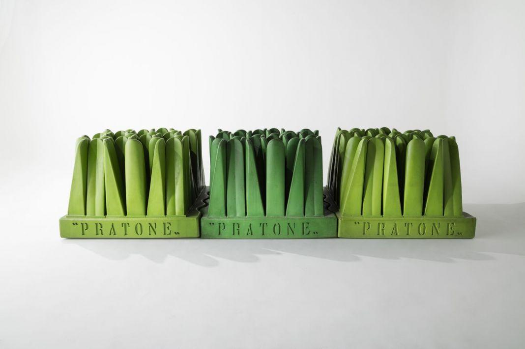 Maria Cristina Didero – SuperDesign. Italian Radical Design 1965-75 (The Monacelli Press, 2017). Pratone lounge chair, Pietro Derossi, Giorgio Ceretti and Riccardo Rosso, 1966, produced by Gufram starting in 1971, still in production. Photo Joe Kramm