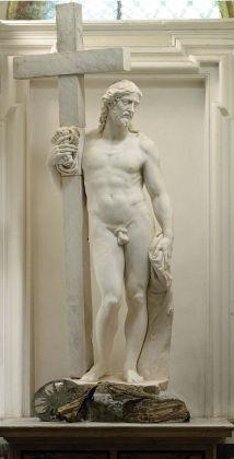 Michelangelo, Cristo risorto Giustiniani (part.), 1515 ca., marmo. Monastero San Vincenzo martire, Bassano Romano