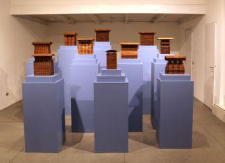 Michele De Lucchi. Cataste. Exhibition view at Antonia Jannone Disegni di Architettura, Milano 2017. Photo Adi Corbetta