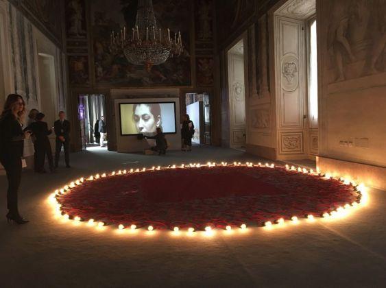 Mona Hatoum, Undercurrent (Red) (Sottocorrente – rosso), 2008. Palazzo del Quirinale, Roma 2017