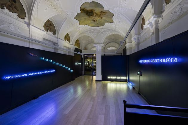 Neon in Contextual Play. Joseph Kosuth and Arte Povera. Installation view at Mazzoleni, Torino 2017