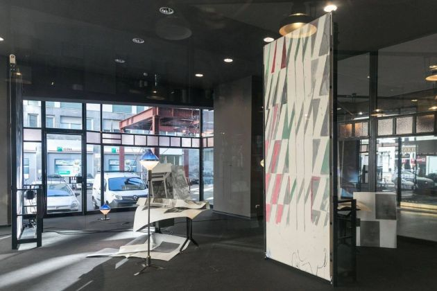 Nick Mauss. Illuminated Window. Installation view at La Triennale di Milano, 2017