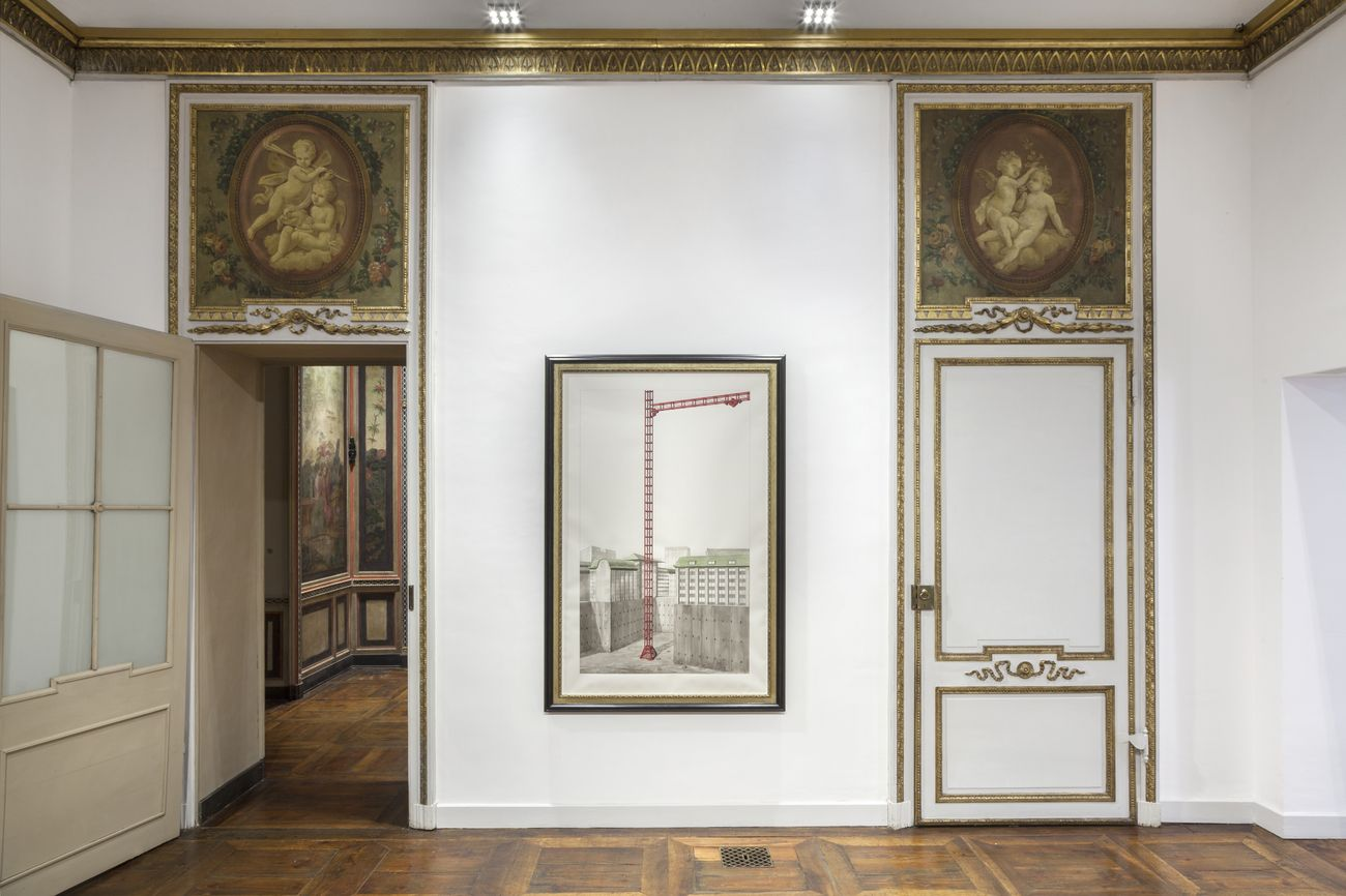Pablo Bronstein. The largeness of China seen from a great distance. Installation view at Galleria Franco Noero, Torino 2017