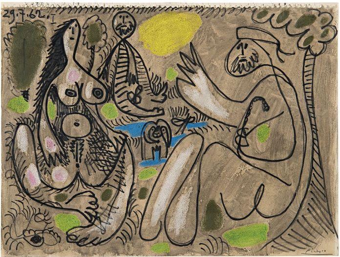 Pablo Picasso, Le déjeuner sur l'herbe. Villa Necchi Campiglio, Milano 2017 (c) FAI - Fondo Ambiente Italiano