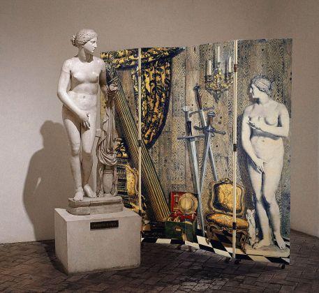 """Paravento """"Angolo antico con Eva"""" di Fornasetti, Museo Nazionale Romano Palazzo Altemps, Roma 2017"""