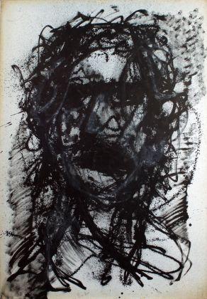 Piero Dosi, Autoritratto, 1981, inchiostro su carta intelata