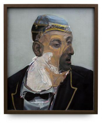 Pietro Roccasalva, The Skeleton Key, 2006, pastello su carta su forex, 58x48,5 cm