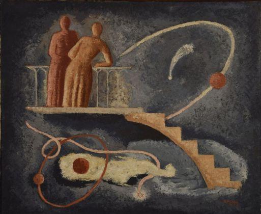 René Paresce, Paesaggio. La notte, 1934. Casa Museo Boschi Di Stefano, Milano