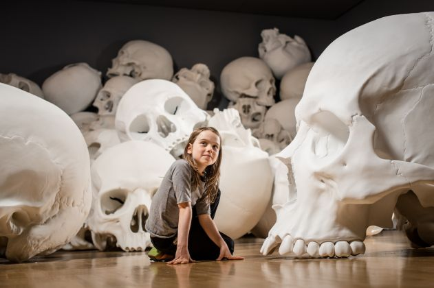 Installation view of Mass by Ron Mueck, 2017 on display at NGV Triennial at NGV International, 2017 Photo: Eugene Hyland