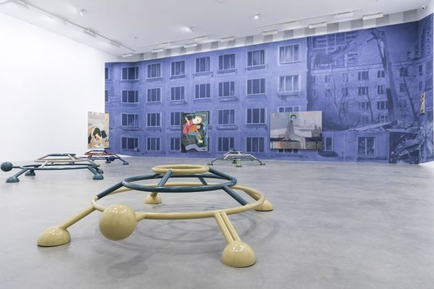 Sanya Kantarovsky. Letdown. Installation view at Fondazione Sandretto Re Rebaudengo, Torino 2017