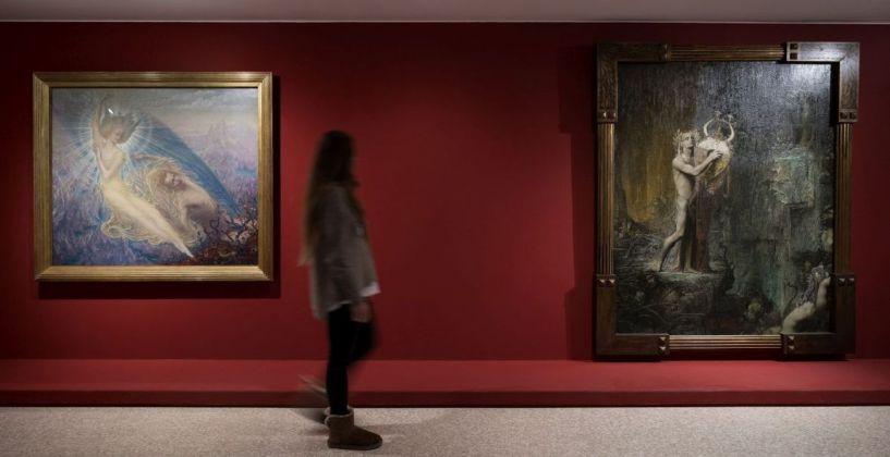 Simbolismo mistico. Il Salon de la Rose+Croix a Parigi 1892–1897. Exhibition view at Collezione Peggy Guggenheim, Venezia 2017. Photo Matteo de Fina
