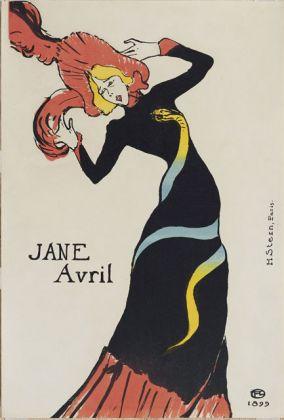 TOULOUSE LAUTREC, Jane Avril, 1899 Litografia a colori, Collezione privata Foto ©Peter Schächli