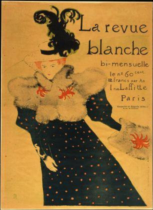 TOULOUSE LAUTREC, La Revue Blanche, 1895 Litografia a colori, Collezione privata Foto ©Peter Schächli
