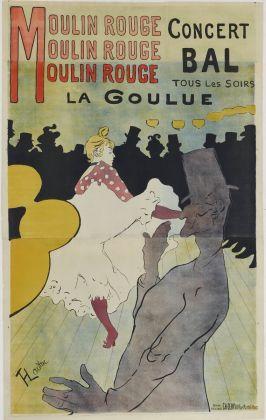 TOULOUSE LAUTREC, Moulin Rouge La Goulue, 1891 Litografia a colori su carta velina, Collezione privata Foto ©Peter Schächli