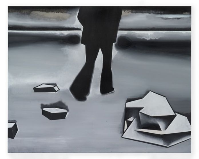 Wilhelm Sasnal, Killing an Arab 2, 2016, olio su tela, 160x200x2,8 cm