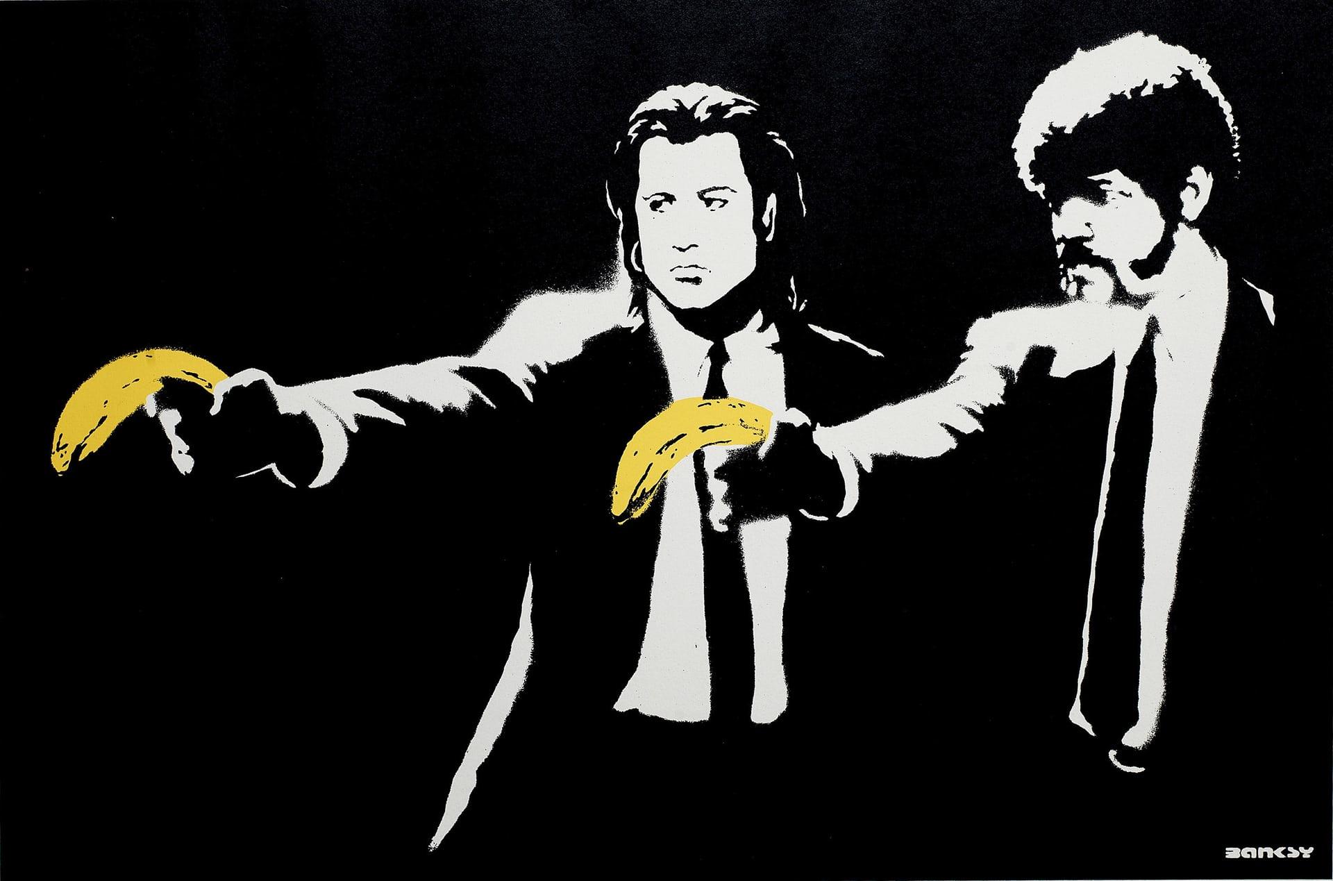 Un'opera di Banksy