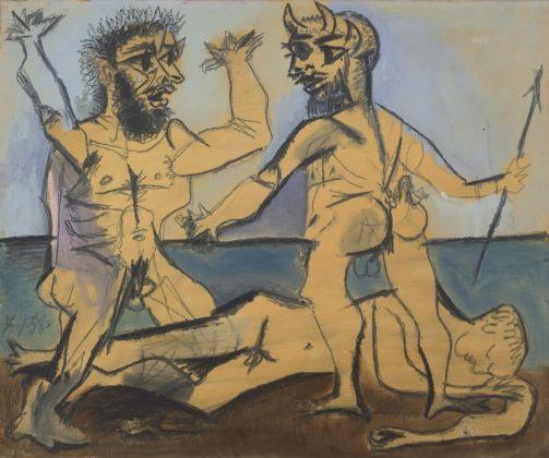 Pablo Picasso, Escena mitológica a orillas del mar 1938 © Fundación Almine y Bernard Ruiz-Picasso para el Arte. © FABA Foto Marc Domage © Sucesión Pablo Picasso, VEGAP, Madrid, 2017
