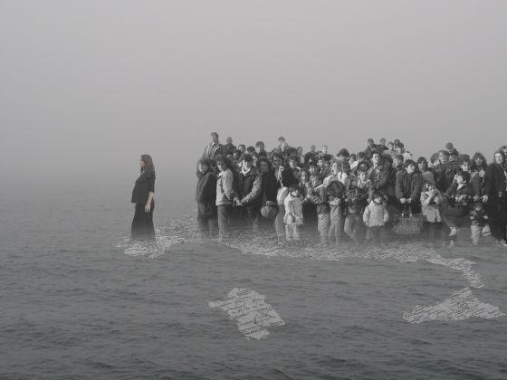 Agnese Purgatorio, Nella Clandestinità, 2003, collage digitale, 90x120, courtesy Podbielski Contemporary Berlin