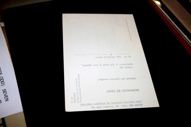 retro cartolina-invito Gino De Dominicis, Paolo Credi Collectors Consulting (Modena)