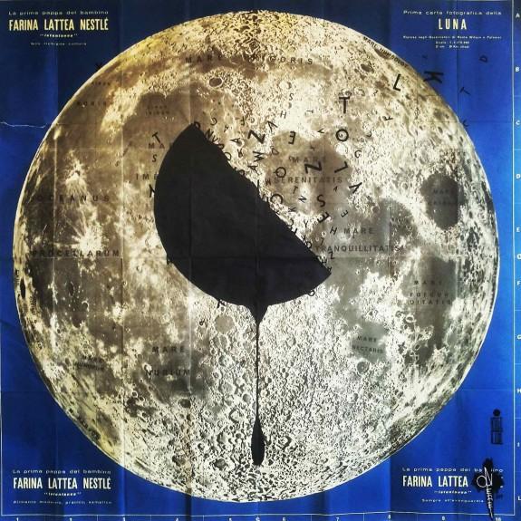 Opiemme, Ombra di Luna, 2015, 100 x 100 cm, pitture acriliche su cartina