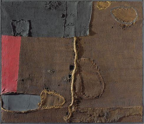 Alberto Burri, Sacco, 1953. Courtesy Christie's