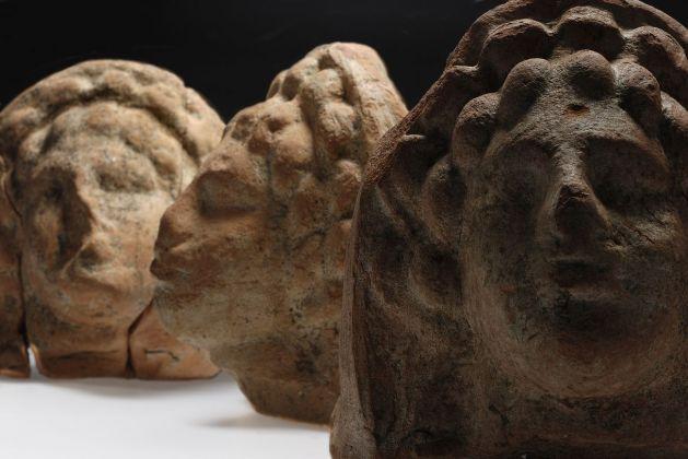 Antefisse in terracotta, fine del III secolo a.C. Dal santuario di Cittanova (MO). Modena, Musei Civici