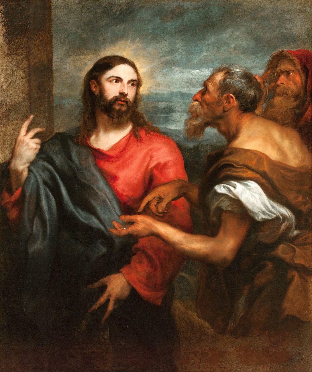 Anton van Dyck, Il Cristo della moneta, 1624-26. Genova, Musei di Strada Nuova - Palazzo Rosso