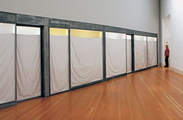 Christo, Three Store Fronts, 1965 66. Property of the artist. Installation view at Martin Gropius Bau Berlin 2001. Photo Wolfgang Volz