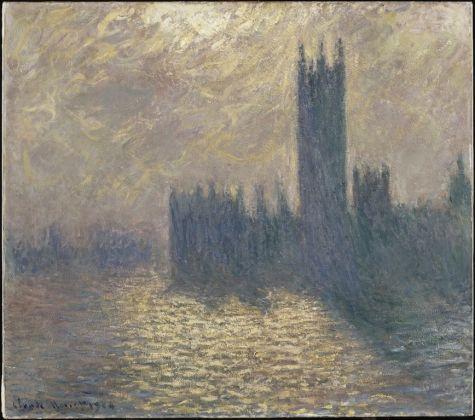 Le Parlement à Londres, ciel orageux