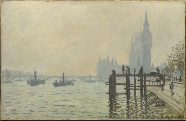Claude Monet, The Thames below Westminster (La Tamise et le Parlement), about 1871© The National Gallery, London