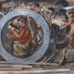 Detail of 'Riveters' from the series 'Shipbuilding on the Clyde', Stanley Spencer, United Kingdom, 1941 © Imperial War Museums