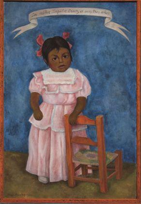 Diego Rivera, La niña Lupita Cruz a los 3 años, 1954, olio su tela, Colección particular en comodato, Museo Nacional de Arte